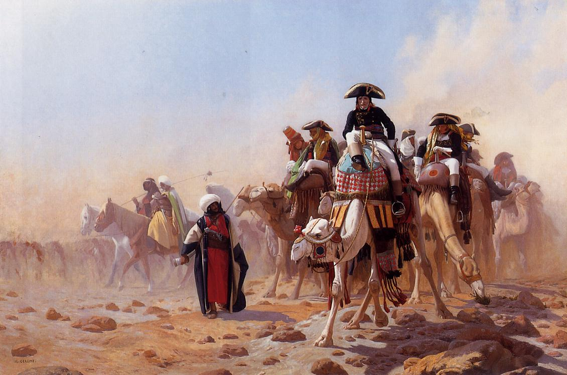 General Bonaparte with his Military Staff in Egypt by Jean-Leon Gerome, 1863