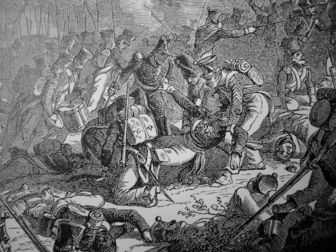 Death of General Gudin at the Battle of Valutino, 1830S